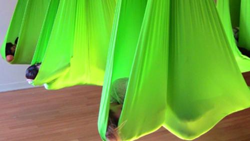 Lime Green Aerial Hammock
